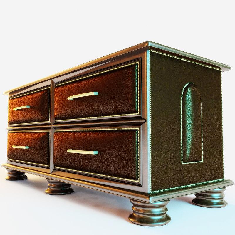 3d model chest drawer parma -