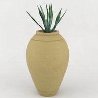 3d model decorative pot plant