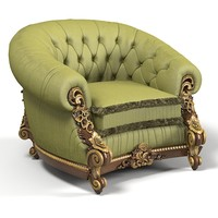 Riva mobili d`arte emozioni classic armchair chair baroque tufted carved luxury