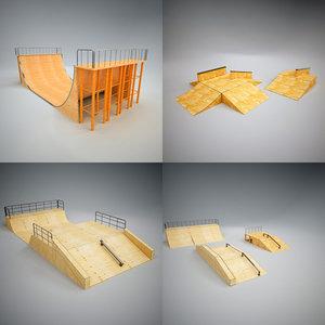 3d skatepark ramp skate 2 model
