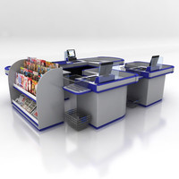 shop checkouts retail 3d max