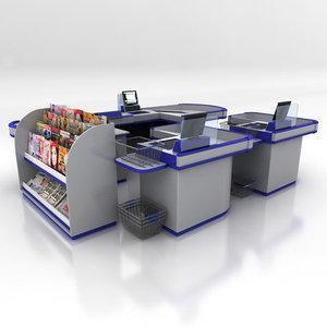 shop checkouts retail 3d max