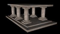 greek temple c4d free