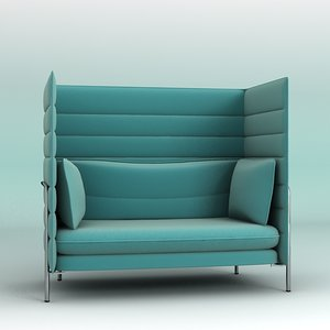 3d vitra alcove chair