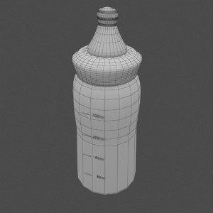 free baby bottle 3d model