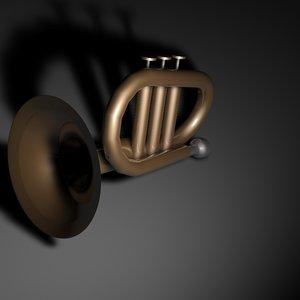 3d model bugle horn