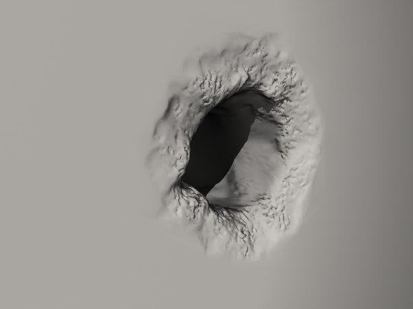 bullet hole 3d model