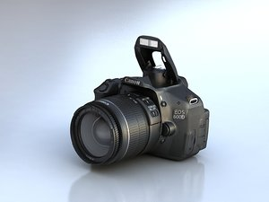 3d model canon eos 600d camera