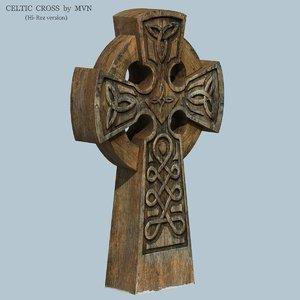 celtic cross 3d model