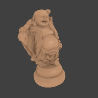 3d accurate scan buddha statue model