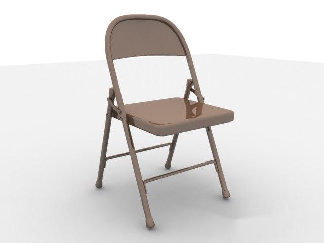folding chair 3d obj