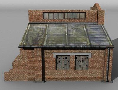 3d model derelict garage