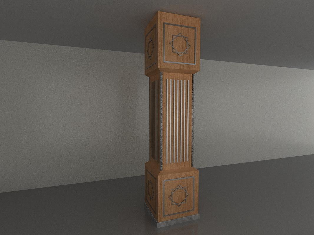 3d model column turkmenistan