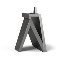 modern art statue 3d max