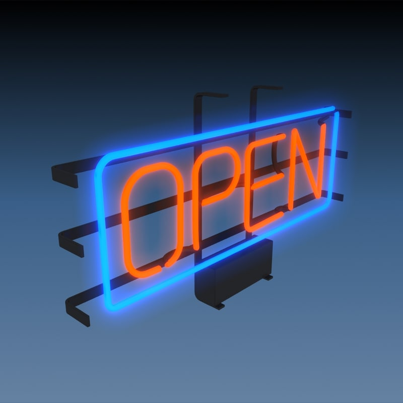 3ds max neon sign