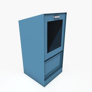 3d newspaper dispenser model
