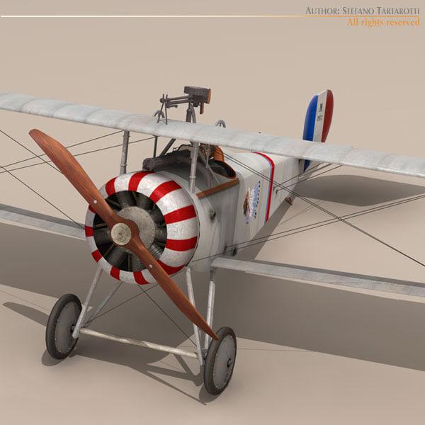 pilot lafayette escadrille fighters 3d 3ds