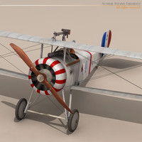pilot lafayette escadrille fighters 3d 3ds