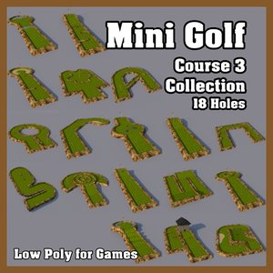 3d mini golf model