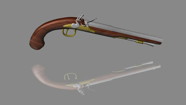 dxf flintlock pistol
