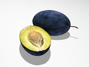 3ds max plum fruits