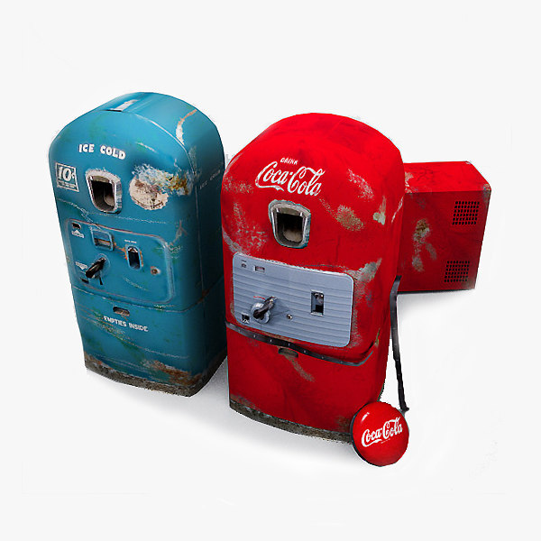 3d vending machines set