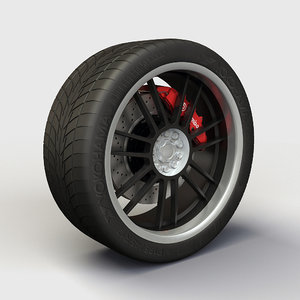 akita racing ak-25 rims 3d model