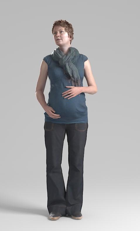 pregnant female 3d model