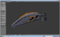 spacecraft ship avp 3d blend