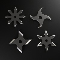 3d shuriken throwing star
