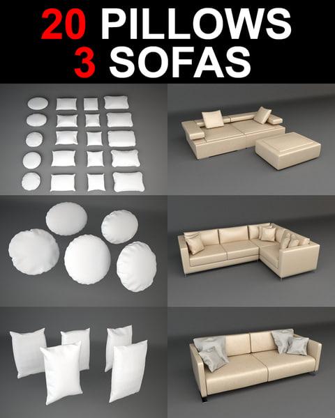 3d sofa pillow