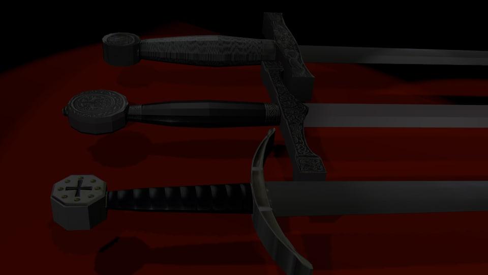 3dsmax swords medieval