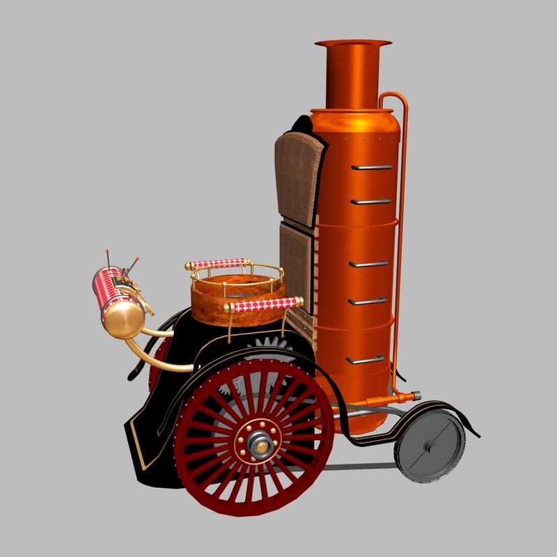 3d fantasy steampunk wheelchair