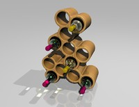 lightwave contemporary wine rack