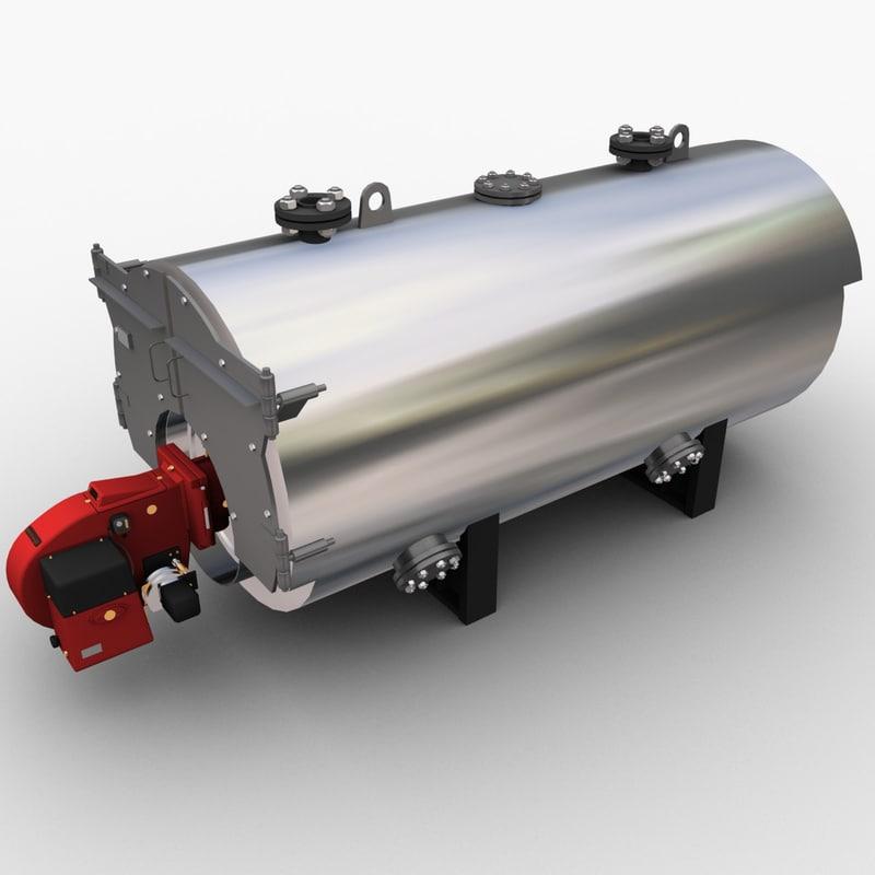 gas boiler 3d max
