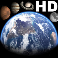 earth moon planets atmosphere 3d max