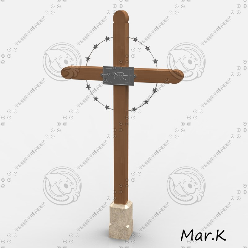 cross crucifix 3d 3ds