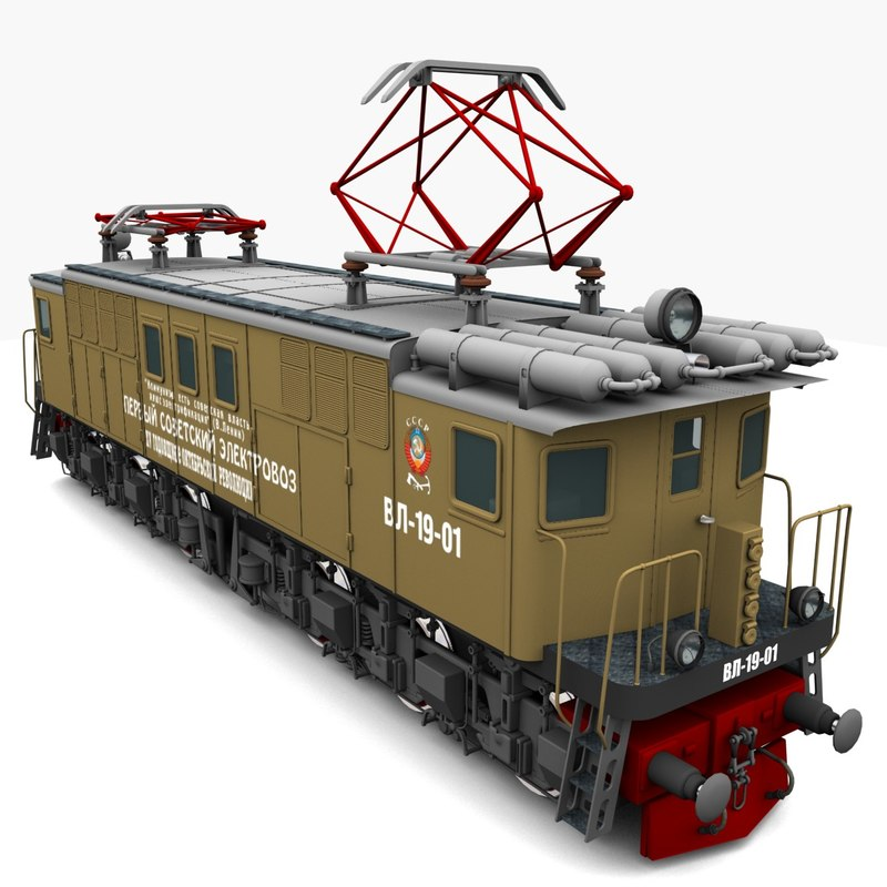 3d model electric locomotive