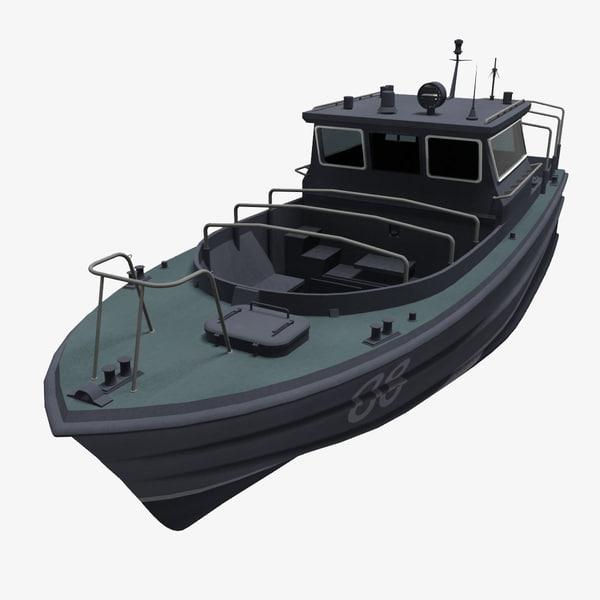 3d model russian boat bekas