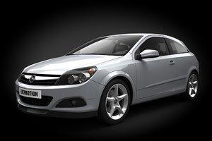 3d car opel astra iii model