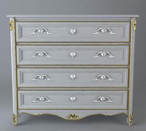 antique dresser 3d model