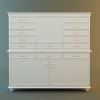 Antique White Drawer Storage Cabinet