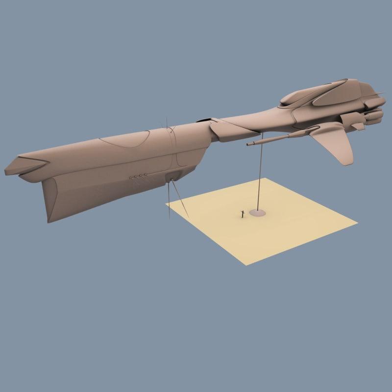 frigate sendercorp 3d model