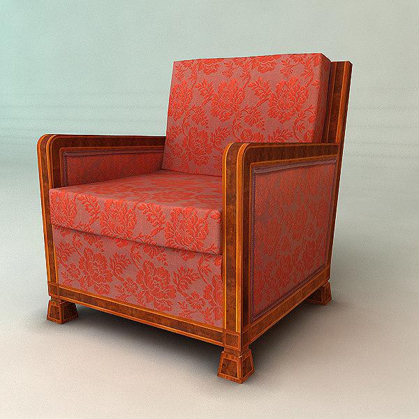 classic armchair 3d model