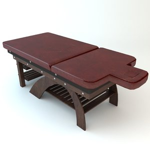 3d leather massage table