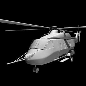 3ds max australian mrh 90 helicopter