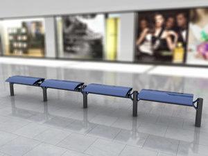 3d modern bench -