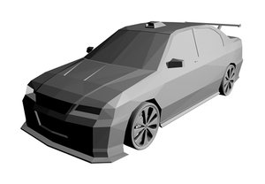 free car modified 3d model