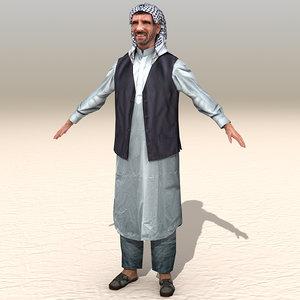 3d max arab afghani casual 03