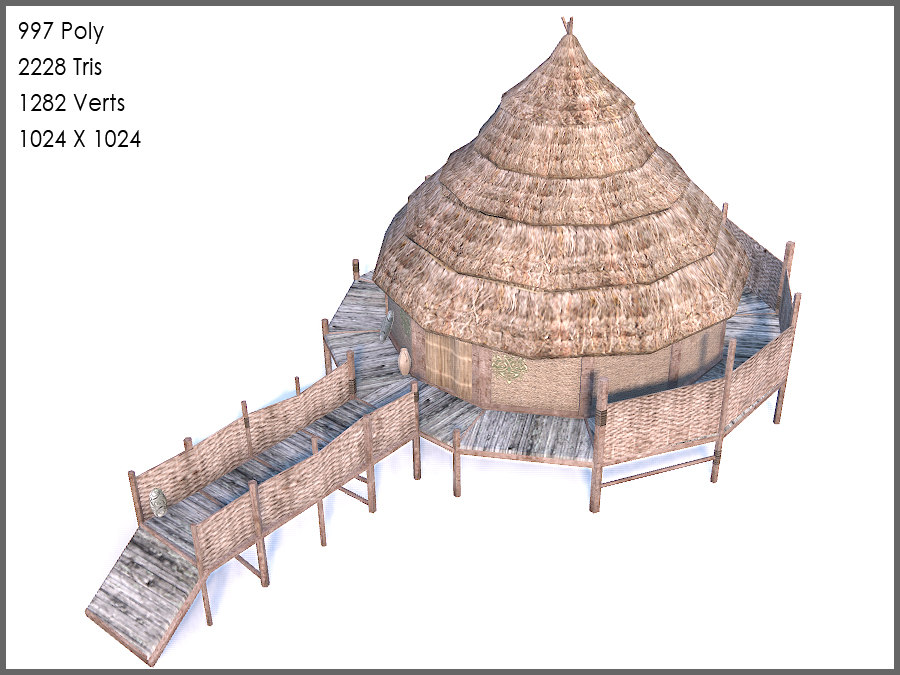 celtic chief roundhouse 3d max
